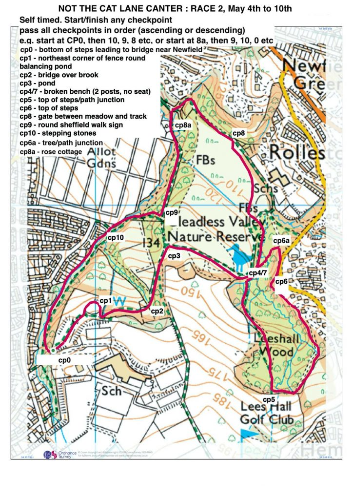 James Halse's OS-based route map